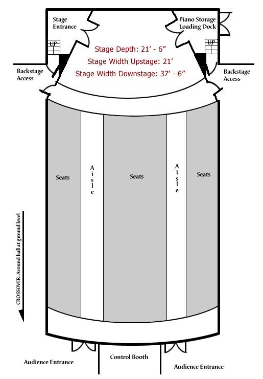 Alumni Recital Hall, ground plan