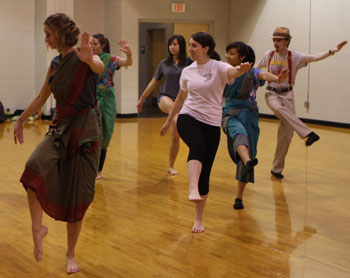 The honors students engaged in indian dance