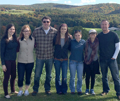 The research team on a downtime visit to Allyson's Orchards in Walpole, NH:...
