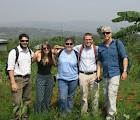 The Communicorps design team on site in Rwanda (l–r): Mike Kelly,  Darcy Stebbins, Fiona Laurie, Adam Beaulieu, Peter Temple