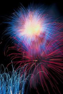 Birthday Cake and Fireworks April 15 for KSC100 News Keene
