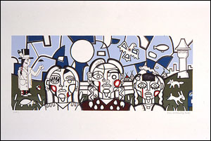 My Threesisters, a lithograph by Star Wallowing Bull, is among the contemporary works in Migrations: New Directions in Native American Art