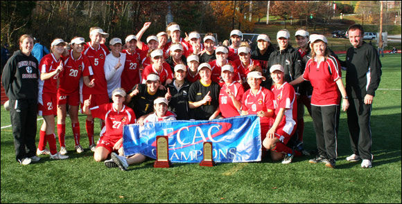 The 2009 ECAC Womens Soccer Champions (photo courtesy of Brandeis University)