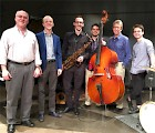 Music Professor Craig Sylvern (left) with the the Jason Kaplan Jazz Quartet at the Florida State University SaxoFest