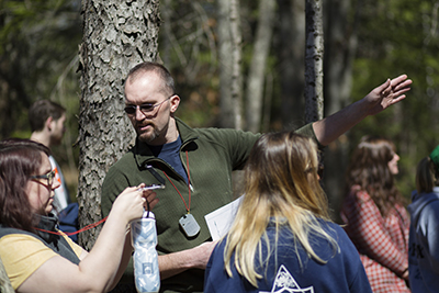 The Monadnock Conservancy's Rick Brackett '07 gives KSC geography students valuable field experience.