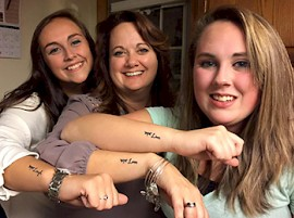 All in the Family: Deb Williams '09, M'16 and Daughters at Keene State