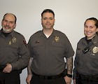 New Campus Safety officers (l–r): David McLean, Mike Miskell, and Michelle Gamache