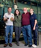 Physical plant staff David Weeks, Cary Gaunt, Bill Rymes and Diana Duffy