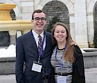 Tanner Semmelrock '16 and Charlotte Meyers '16 at the Capitol (courtesy photo)