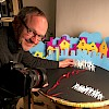 Prof. Hoyt creating his stop-motion animation