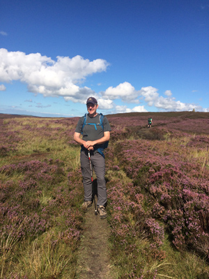 Dr. Brehme on a walking path in North York Moors National Park