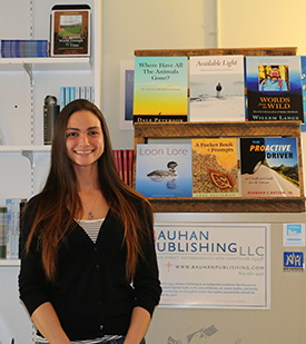 Jocelyn Lovering '15 turned her internship at Bauhan Publishing into a job there.