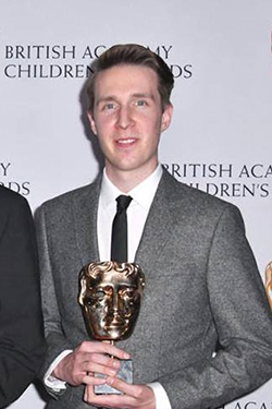 Jonathan Green with his BAFTA award