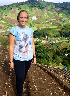 Caroline McSherry '17, researching soil run off in the western highlands of Panama