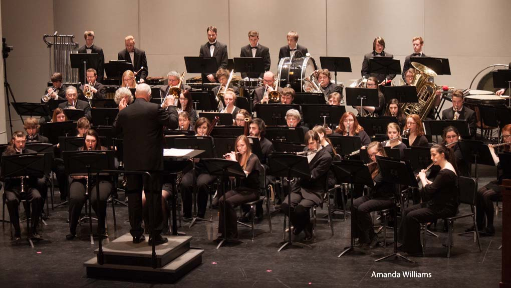 Jim Chesebrouh directs the Concert Band.