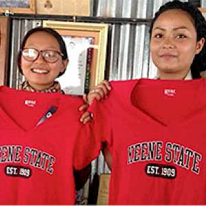 The first Nepalese women to benefit from Keene...