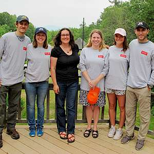 The Environmental Studies internship team at the...