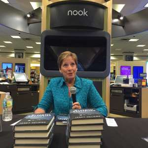 Janet Heijens at a book signing