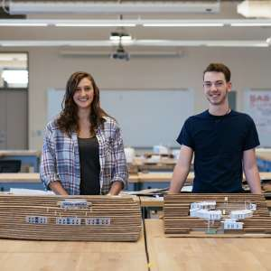 Architecture majors Rachel Lamica and Connor Bell