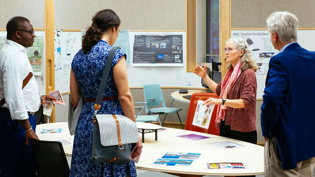 Business leaders tour Keene State's Sustainable Product Design and Innovation laboratory