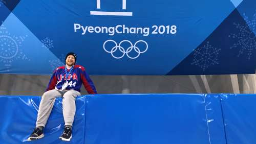 Tyler Dabrowski '13 at the Pyeongchang Olympics