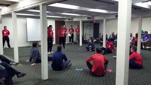 "Keene State physical education students presenting ""Teaching Fitness Concepts to Young Children"" at the conference."