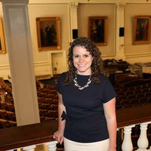 Megan Stone at the State House