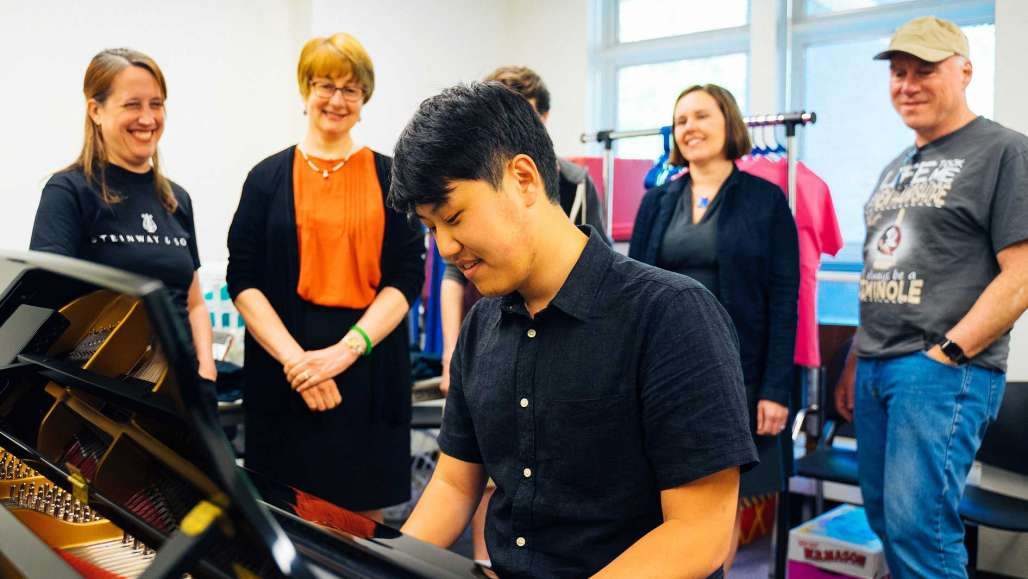 Students Receive New Steinway Pianos for Learning and Performing