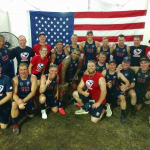 Sam Jones '18 (first row, red shirt) with Team USA Rugby in Malaysia. Photo courtesy of Sam Jones.