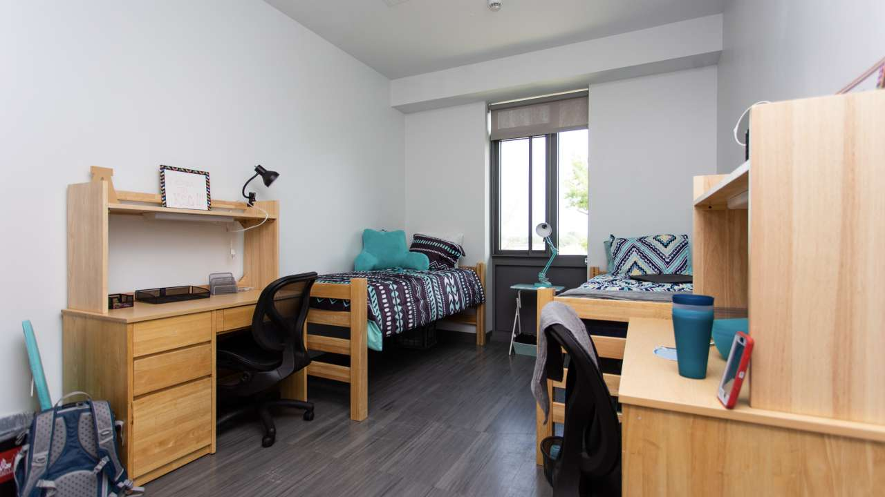 The Commons double occupancy dorm room