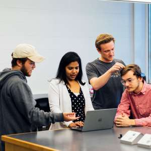 Computer Science Student and Professor Use Artificial Intelligence Technology