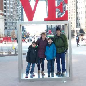 Dr. Dunn and family in Philadelphia