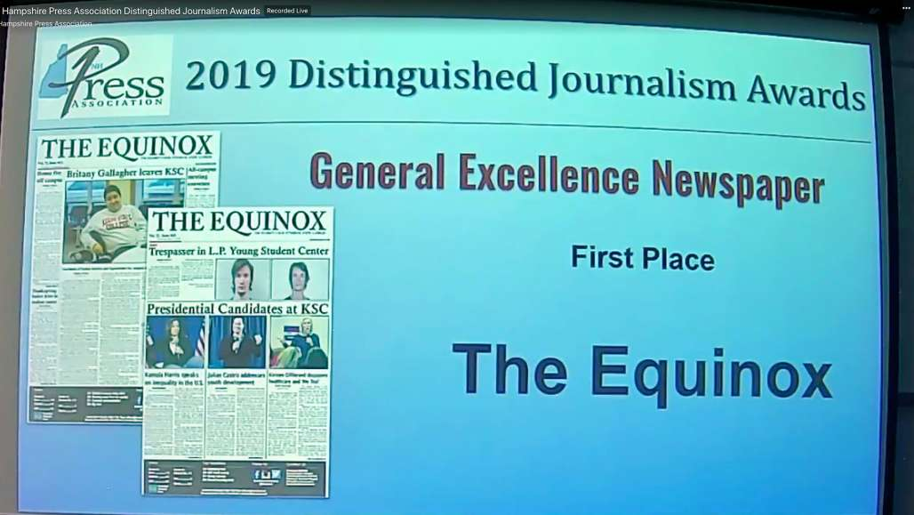 Students Win Journalism Awards from New Hampshire Press Association