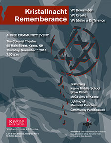 Kristallnacht Remembrance Poster