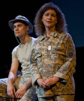 "Christian Blackburn and Lynda Shadrake in ""Letters Home"""